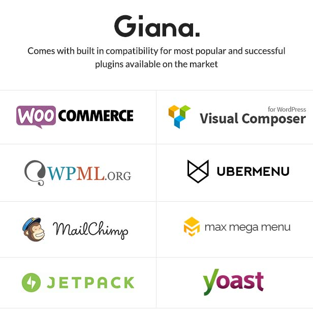 Giana supported plugins